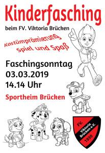 Plakat Kinderfasching 2019